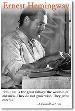 Ernest Hemingway - The Wisdom of Old Men - NEW Famous American Writer POSTER
