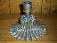 Antique Art Nouveau Copper or Brass Star Base Candle Holder