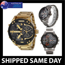 LUXURY CUB MENS DRESS WATCH Gold Silver Fashion Military Water Resistant 93