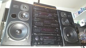 KENWOOD HiFi 6 pieces Stack system separates A-97 X-87 T-76L GE-970 DP-97 LS-97