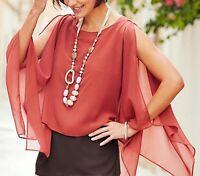 New Joanna Hope Kaftan Open Chiffon Blouse Plus Size 18/20 22/24 26/28