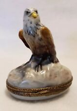 Authentic Aragon & Vultury Limoges Box Peint Main Trinket Box Eagle With Egg
