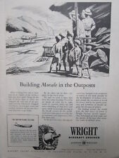 9/1945 PUB CURTISS-WRIGHT WRIGHT AIRCRAFT ENGINES CYCLONE MOTEUR ORIGINAL AD