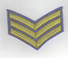 BRITISH ARMY SERGEANTS DRESS INSIGNIA/CHEVRON FOR NO 1 DRESS - ARMY AIR CORPS