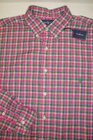 NWT $125 Polo Ralph Lauren LS Shirt Mens LT 3XLT Tall Pink Green Blue Cotton NEW