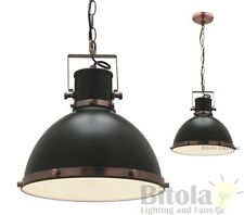 NEW MERCATOR TONIC SMALL CEILING PENDANT LIGHT BLACK METAL WITH COPPER MG9031S