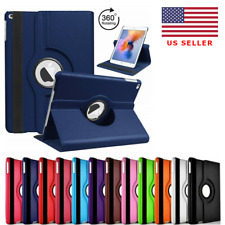 For iPad Air 2 Shockproof Case Cover 360 PU Rotating Leather Folio Stand