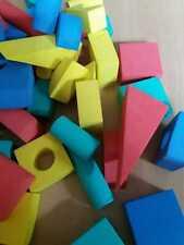 Keine Verletzungsgefahr: Bausteine Bauklötze aus Moosgummi - selten! -
