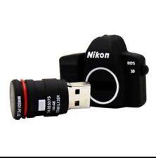 Minigz Camera Usb Stick 64gb Memory Card Keyring Flash Drive 2.0 Computer Gift P