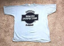 New listing Vtg 70s 80's Hawaii T Shirt 50/50 Poly Tees Sz Med Lg Official Bikini Inspector