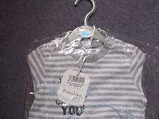 BRAND NEW BRANDED BABALUNO BABY GREY AND WHITE TOP AND JEANS .0-3 MONTHS