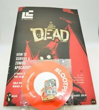 Rare Loot Crate Issue 32 February 2016 Magazine & Pin Back Button Dead Issue!