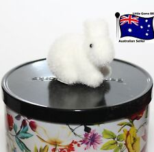 BATH & BODY WORKS CANDLE * White Bunny Magnet * ACCESSORY *DRESS UP YOUR CANDLE