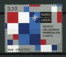Croatia 2019 MNH NATO Accession 10th Anniversary 1v Set Stamps