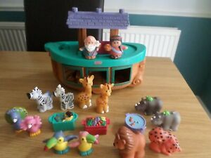 FISHER PRICE LITTLE PEOPLE NOAHS ARK ANIMALS AND FIGURES FREE UK POST