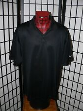 Nike Golf Fitdry Black Polyester Short Sleeve Polo Shirt Mens Size Xl