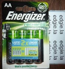 4 x ENERGIZER AA 1300 mAh Rechargeable Batteries Universal HR6 NiMH 2X Longer