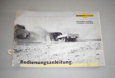 Instrucciones Servicio/Manual Humbaur Colgante Stand 05/1997
