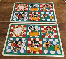 Vintage Vinyl Mickey Mouse Placemats