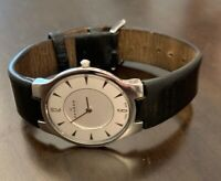 Skagen Stainless Steel  Quartz Watch 433LSLB1~Leather Band~Working
