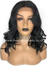 Lace Front Synthetic Wavy Black Wig