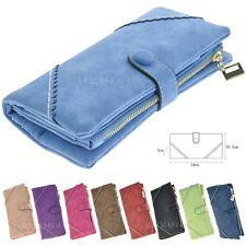 Fashion Leather Wallet Button Purse Lady Long Women's Handbag Black Blue Red