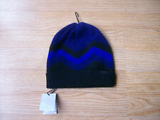 $150 Burberry Children Baby Boys Knitted Beanie Hat Cashemere Blue sz XS NWT