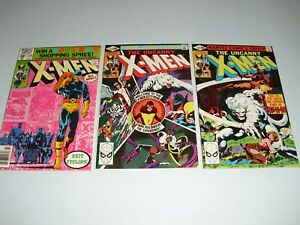 Uncanny X-Men #138 139 & 140 all VF to VF+ COND 1980! Marvel unrestored A583