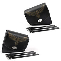 Leather Left/Right side Saddlebag SaddleBag For Sportster XL883 XL1200 A5
