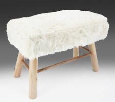 Hocker Bank Sitzbank Sitzhocker Fell weiß massiv Holz