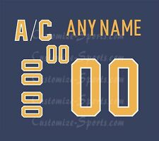 Buffalo Sabres Customized Number Kit for 2017-2020 Home Jersey