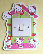 Hello Kitty House Light Switch Cover Sticker Glow In Dark Girls Room Decoration
