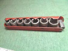 "Vintage Indestro 1/4"" Drive Socket Set w/ L-Handle & Tray, USA"