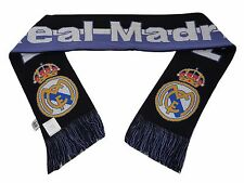 Real Madrid FC Double Sided Scarf 60 Inches Long (Purple/Black) New W/Tags