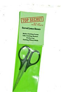 Curved lexan scissors