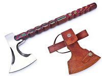 MDM HUNTING TOOL NEW FORGED WROUGHT BEARDED CAMPING AXE VIKING TOMAHAWK HATCHET
