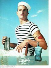 PUBLICITE ADVERTISING 116  2001  le Male nouveau parfum homme par JP Gaultier