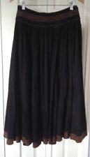 FILIPPO ALPI Vintage Italian Suede Leather Maxi Skirt ~ Size Large / Euro Sz 44
