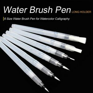 6PCS Paint Brush Water Color Brush Pencil Soft Watercolor Brush Pen Beginner