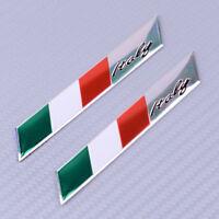 2x 3D Flagge Logo Aufkleber Italien Italy Fahne Auto Motorrad Alu Sticker Emblem