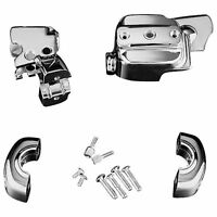 Kuryakyn Chrome Brake and Clutch Control Dress-Up Kit Harley FXD FLH FLT XL