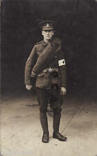 WW1 Pte RAMC Royal Army Medical Corps wears rolled up greatcoat