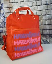 Vintage Hawaiian Air Airline Red Nylon Weekend Carry On Travel Shoulder Bag Tote