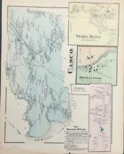Antique Map Casco, Maine - FW Beers Cumberland County Maine 1871