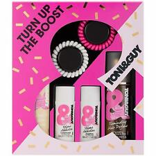 TONI&GUY Turn up The Boost Shampoo Conditioner Hair Perfume and Hairspray 4 Pi