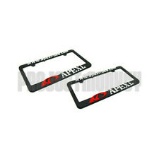APEXi Logo License Plate Frame x 2 Holder Black Plastic Number Tag Genuine JDM