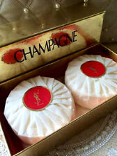 100%AUTHENTIC SEALED BEYOND RARE 2x YSL CHAMPAGNE PERFUMED SOAPS SAVON GIFT BOX
