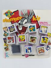 New 1993 The Rubber Stamp Factory Looney Tunes Rubber Stamper Kit, Bugs, Taz & +