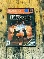 Star Wars Episode III Revenge of the Sith (Sony PlayStation 2) 3 PS2 Complete