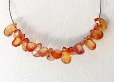 1 Mandarin Orange Sapphire Faceted Briollete Bead 6091
